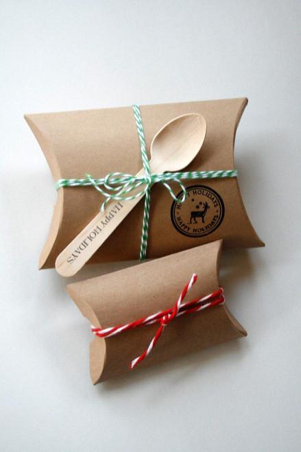 """Pillow Boxes - Brown Kraft  - 3 1/2"""" x 3"""" x 1"""""""