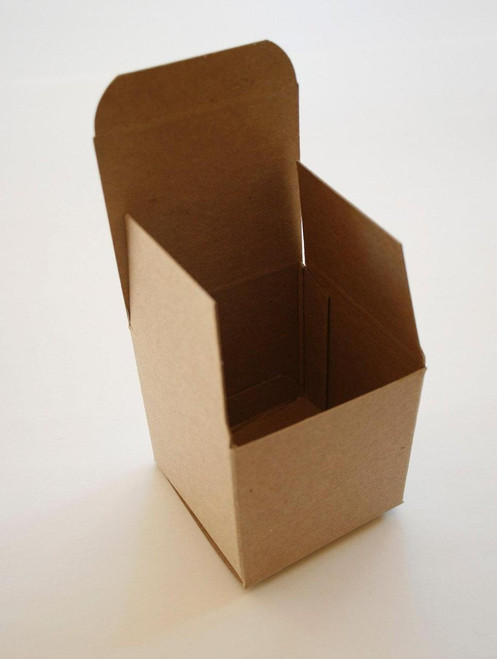 Brown Kraft Boxes DIY - Perfect with Twine or Deco Tape - Packaging - 4 x 4 x 4 Inches