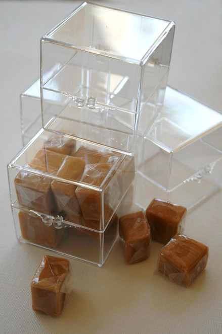 2 Inch Square Clear Acrylic Boxes - Favors or Parties or Packaging and Storage