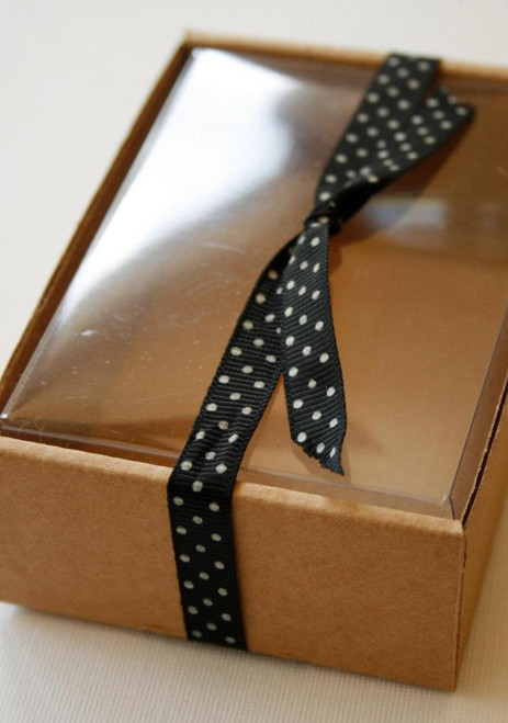 Heavy Kraft Cardboard Boxes - Clear Top - Perfect Size for Gifts or Packaging