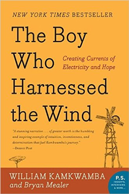 This immensely engaging tale relates how an enterprising teenager in Malawi builds a windmill from scraps he finds around his village and brings electricity--and a future--to his family.