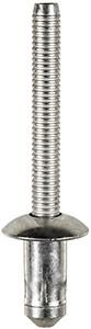 "Fender, Sill & Radiator Support Specialty Rivet  1/4"" (6.3mm) Diameter Grip: .110"" - .189"" (2.79mm - 4.8mm) Flange Diameter :1/2"" (13mm) Steel Rivet ( Zinc) & Steel Mandrel (Zinc) Ford F-150 Trucks With Aluminum Body 2015 OEM# W702512-S900C 10 Per Box"