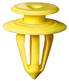 Yellow Nylon Top Head Diameter: 13mm Bottom Head Diameter: 17.5mm Stem Diameter: 10mm Stem Length: 16mm VW, Audi, SEAT, Skoda & Ford 25 Per Box