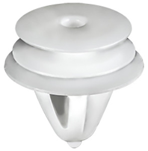 Trim Panel Retainer White Nylon Top Head diameter: 15mm Middle Head Diameter: 16mm Bottom Head Diameter: 18mm Stem Diameter: 10.7mm Stem Length: 12mm Hyundai & Kia 1995 - On OEM# 82315-33020 50 Per Box