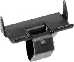 GM Door & Quarter Glass Channel Clip Black Phosphate Width: 9mm Length: 16mm Overall Height: 13mm GM Not Available From O.E.M. 50 Per Box