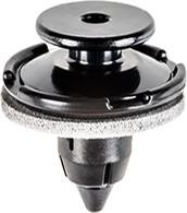 Garnish & Rear Spoiler Head Diameter: 20mm Stem Length: 13mm Fits Into 8.5mm Hole Black Nylon Acura RDX & TSX Honda Accord, CR-V & Odyssey 2011 - On Honda OEM# 91512-STK-A01 10 Per Box
