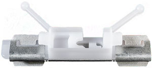 Pillar & Exterior Trim Glass Weatherstrip Clip Overall Length: 49mm Metal & White Nylon Volvo XC60 2008 - On Volvo OEM# 30753487 10 Per Box