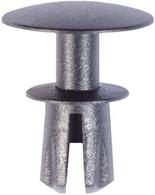 Exterior Pillar Moulding Top Head Diameter: 19mm Bottom Head Diameter: 13mm Black Nylon Stem Length: 12mm Fits Into 8mm Hole Range Rover Sport 2012 - 2006 Land Rover OEM# DYQ500060 25 Per Box