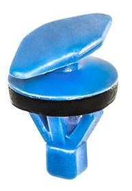 Weatherstrip Retaining Clip With Sealer Head Size: 6.5mm x 16mm Stem Diameter: 7.6mm Blue Nylon Stem Length: 10mm VW, Audi, SEAT & Skoda VW OEM# 8E0-837-485C 10 Per Box