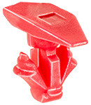 Weatherstrip Retainer Head Size: 5mm x 15mm Stem Diameter: 7mm Red Nylon Stem Length: 8mm Hyundai Santa Fe & Kia Sorento 2013 - On Hyundai OEM# 87756-2W000 100 Per Box