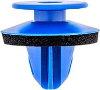 Wheel Arch Opening Moulding Retainer With Sealer Top Head Diameter: 13.3mm Bottom Head Diameter: 17mm Blue Nylon Stem Diameter: 9.3mm Stem Length: 10mm Audi RS & Q3  Volkswagen Golf, R32, GTI & Rabbit, 2015 - On Audi OEM# 8U0-853-909 25 Per Box