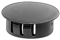 "Hole Size: 5/16"" Max. Thickness: 1/16"" Head Diameter: 3/8"" Nylon Locking Hole Plugs Black Nylon 50 Per Box See Next Image For Plug Size Chart"
