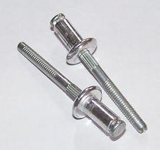 "GM & Chrysler 1981 - On Diameter: 1/4"" 9/64 -3/16 Grip Peel Type Rivets Zinc Window Regulator, Electric Door Lock Linkage, Qtr Vent Handle Assemblies GM OEM# 9437486 Chrysler OEM# 6032926 25 Per Box"