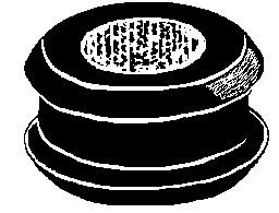 "Bore Diameter: 1/4"" Groove Width: 1/16"" Groove Diameter: 1"" 25 Per Box Click Next Image For Grommet Size Chart"