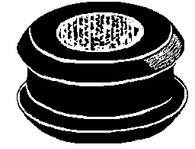"Bore Diameter: 3/8"" Groove Width: 1/16"" 5/8"" Groove Diameter 25 Per Box Click Next Image For Grommet Size Chart"