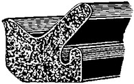 Ford 1955 - On Door Flange  Sponge Rubber Weatherstrip 50 Feet Per Box