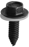 Mirror Mounting Screw 1/4-20 x 7/8 w/5/8 Nylon Washer Hex Washer Head Body Bolts Black Phosphate OEM# 14007510 25 Per Box Click Next Images For Body Bolt Spec Charts