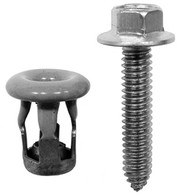 "1/4 - 20 x 1-1/4 Hex: 3/8"" Stainless Steel Hex Truck Mirror Mounting Screws & Jack Nuts GM, Chrysler OEM # 367291, 367292, 474821, 14007511 10 Sets Per Box Click Next Images For Body Bolt Spec Charts"