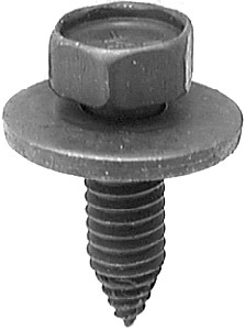 """5/16""""-18 x 1"""" Ford & GM 7/8"""" Sems Washer Sheet Metal Hex Head Screws Black Phosphate 25 Per Box Click Next Images For Body Bolt Spec Charts"""