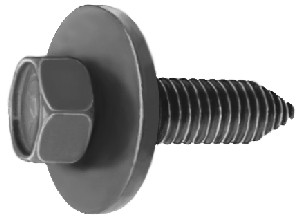 """3/8""""-16 x 1-1/2 Hex: 9/16"""" 1-1/8"""" Washer Outer Diameter Hex Head Sems Hood Hinge to Fender Bolts Black Phosphate OEM # 407217, 1564180 25 Per Box Click Next Images For Body Bolt Spec Charts"""