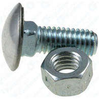 "7/16 - 14 x 7/8"" Stainless Steel Cap Round Head Bumper Bolts with Hex Nuts Zinc 25 Per Box Click Next Image For Bumper Bolt Spec Chart"