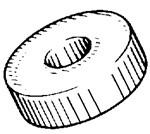 "Inner Diameter: 1/4"" (6mm) Outer Diameter: 3/4"" (19mm) Thickness:1/4"" (6mm) License Plate Bracket Spacers Nylon 50 Per Box"