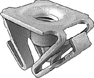 Screw Size: M6-1.0 GM Trucks 1996 - On License Plate Bracket Retainer Nuts Front Fender Extension Zinc OEM# 15707256 10 Per Box