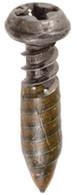 "#8 - 15 x3/4"" 9/32"" Head Diameter Self-Piercer With Sealer OEM# 154508 Decorative Black 50 Per Box"