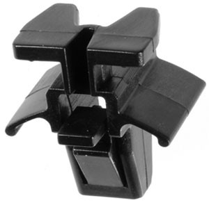 Grille Clip Top Head Size: 15.5mm x 11mm Bottom Head Size: 19.5mm x 14mm Stem Length: 11mm Subaru Forester & Legacy 1991-2008 OEM# 91059-FC090 Black Nylon 25 Per Box Click Next Image For Clip Detail