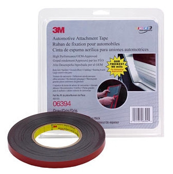 """3M 6394 1/2"""" x 10 yard roll Double Sided Tape Grey 90 mil Thick"""