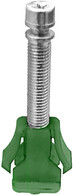 """1/4"""" - 28 x 2"""" Headlight Adjustment Screw & Nut Assembly  Cars With Fiberglass Panels GM 1976-On OEM# 365270 Green Nylon 25 Per Box Click next Image For Assembly Detail"""