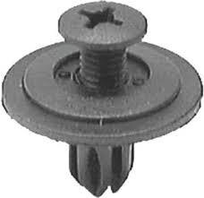 Honda Push-Type Retainer Head Diameter: 18mm Stem Length 11mm Fits Into 6mm Hole OEM# 90688-SB0-003 Black Nylon 25 Per Box Click Next Image For Clip Detail