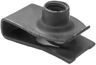 "Extruded U Nut Ford 1/4"" - 20 17/32"" Hole Center To Edge .025"" - .150"" Panel Range OEM# 45263-S2 Black Phosphate 25 Per Box Click Next Image For Nut Detail"