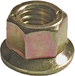 "Free Spinning Washer Nut #10 - 24 Thread Washer O.D. : 3/8"" Hex Size: 5/16"" OEM# 383255-S36 Yellow Zinc 100 Per Box Click Next Image For Nut Size Chart"