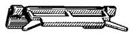 Windshield Side Moulding Clip 4 Door Acura Legend 1991-On OEM# 91513-SP0-003 Teal Nylon 10 Per Box Click Next Image For Clip Detail