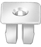 "Headlight Screw Grommets Buick Electra FWD 1987 - On For #6 Screw 3/8"" Square Head OEM# 16510893 Natural Nylon 50 Per Box Click Next Image For Clip Detail"
