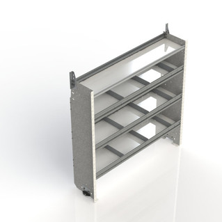 Square Back Shelf Unit - 4-shelf