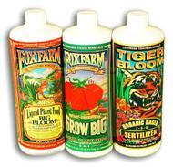 Fox Farm Soil Formula Trio: Big Bloom, Grow Big, Tiger Bloom Quarts