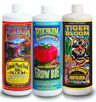 Fox Farm Hydro Formula Trio: Big Bloom, Grow Big Hydro, Tiger Bloom Quarts