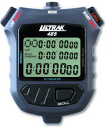 Ultrak 485 - 8 Lap Memory Stopwatch - 3 Line Display