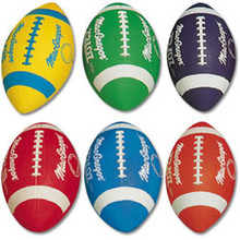 MacGregor Multicolor Prism Pack Official Sized Rubber Footballs