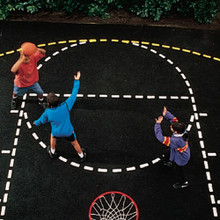 Basketball Court Outline Stencil Set With 3-Point Line