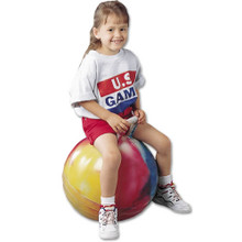 US Games 24-inch Hopper PE Balance Trainer Bouncing Ball