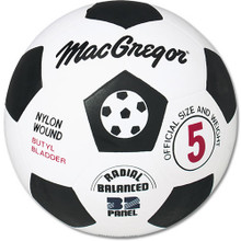 MacGregor Official Size / Weight Nylon Wound Rubber Soccer Ball