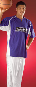 Alleson Athletic 543S Half-Front Zip Basketball Shooter Shirt