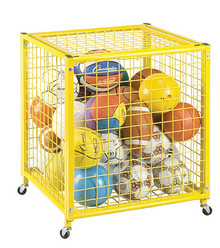Champion Sports Locking Ball Storage Cart - LRCS