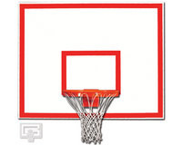 "Gared Sports 1260B: 42"" x 60"" Steel Backboard with Target/Border"
