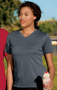 Sport-Tek® - Dri-Mesh® Ladies Crossover V-Neck T-Shirt L468V