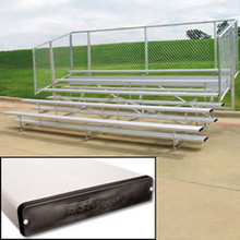 Alumagoal Preferred Stationary Aluminum Bleacher - Seats 90