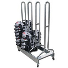 Pro-Down Double Wide Football Shoulder Pad Rack